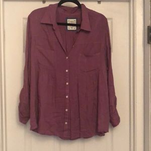 Style & Co long sleeve Mauve shirt Size 2XL